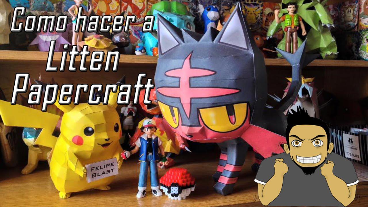 Papercraft Tutorial - Litten Papercraft (Pokemon Sun & Moon #1)