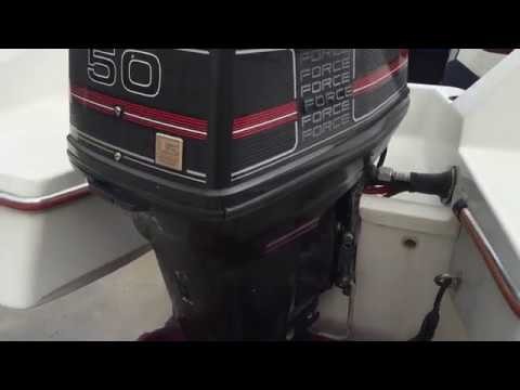 1990 Force 50 Outboard Running