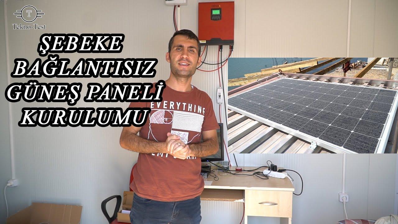 Şebeke Bağlantısız Güneş Paneli Sistemi 3kw (of grid sistem)
