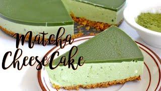 MATCHA CHEESECAKE RECIPE (NO BAKE AND NO EGG)