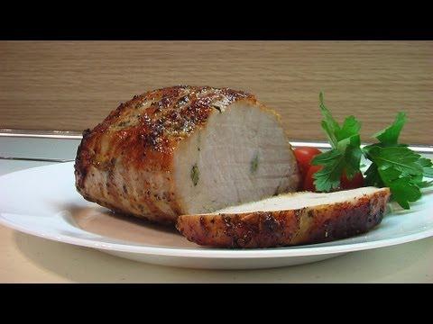 Свиная вырезка в фольге