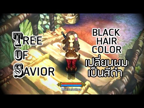 TOS Change Hair Color เปลยนผมใหเปนสดำ Tree Of Savior - Hairstyle color tree of savior