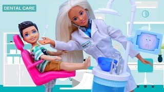 Barbie DENTIST Fail - Beauty & The Beast Movie Belle Has a Barbie Doctor Check Up
