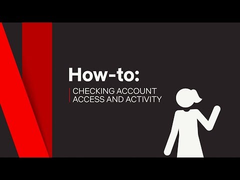 How To  Access Account & Activity  Netflix