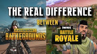 The Real Difference Between Fortnite and PUBG