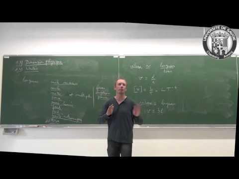 Introduction à la mécanique en L1 - cours 1