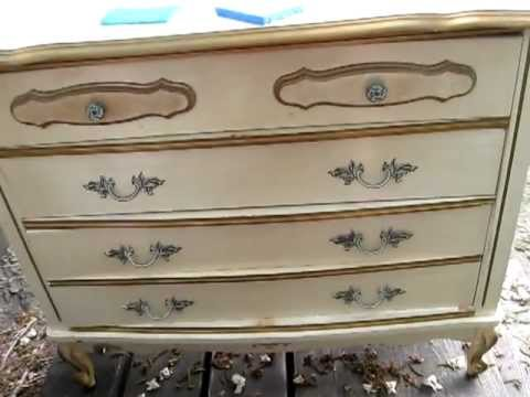 Refinishing Bellas French Provincial Furniture  Shabby