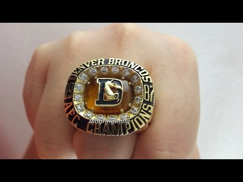AFC 1987 Denver Broncos Ring Replica,Personalize your own rings.