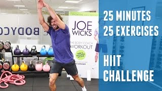 25 Minutes 25 Exercises | HIIT Challenge | The Body Coach