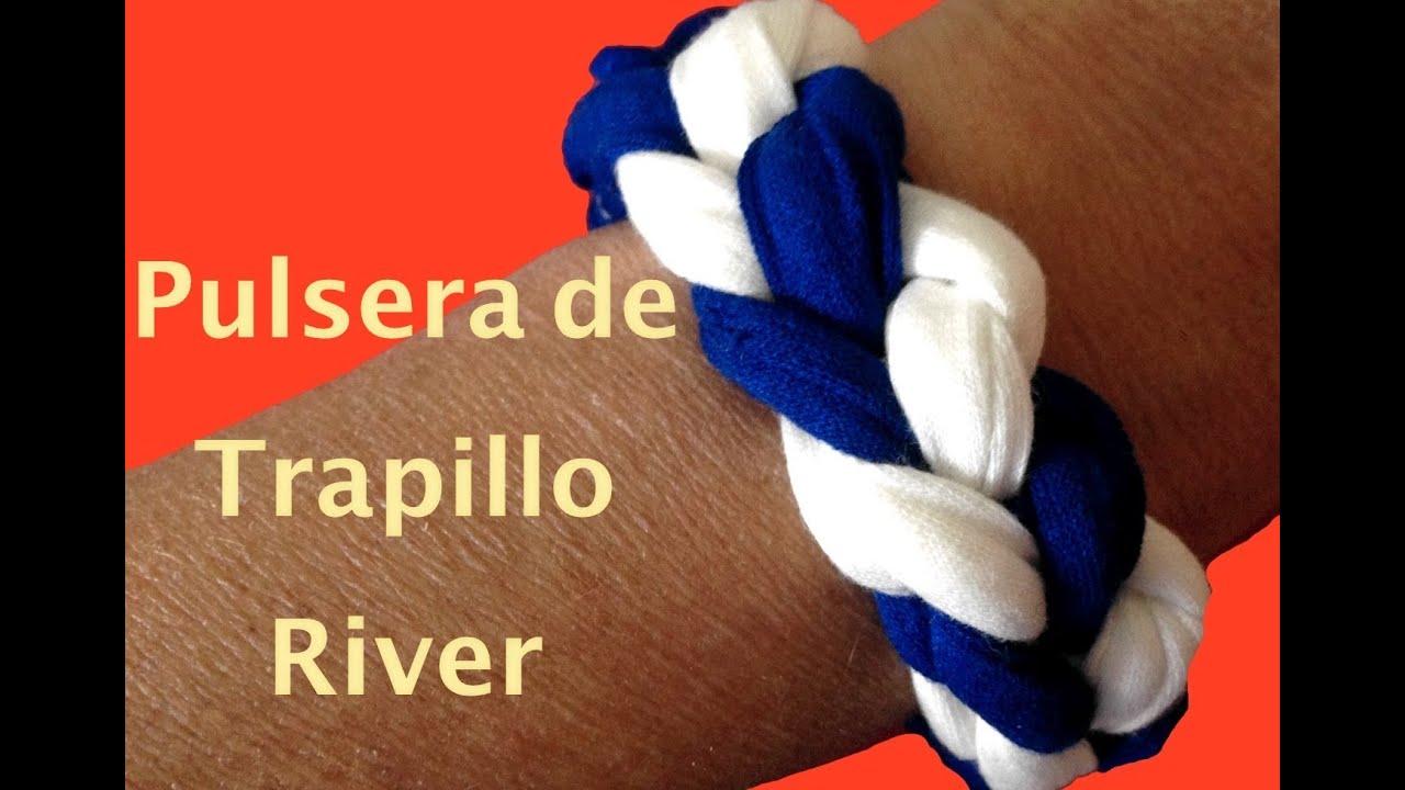 C mo hacer pulsera de trapillo river river zpaguetti - Como hacer trapillo ...