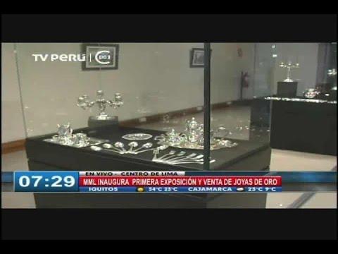 c2eba901db2e Municipio de Lima inauguró exposición y venta de joyas de oro y ...