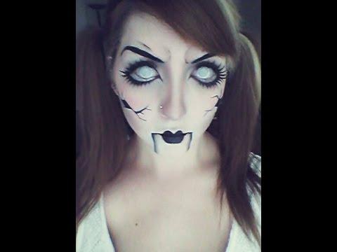Halloween Make-up tutorial - Creepy doll - YouTube