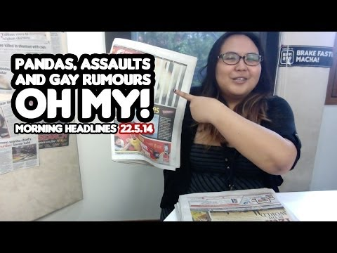 Pandas, Assaults And Gay Rumours. OH MY! [Morning Headlines]