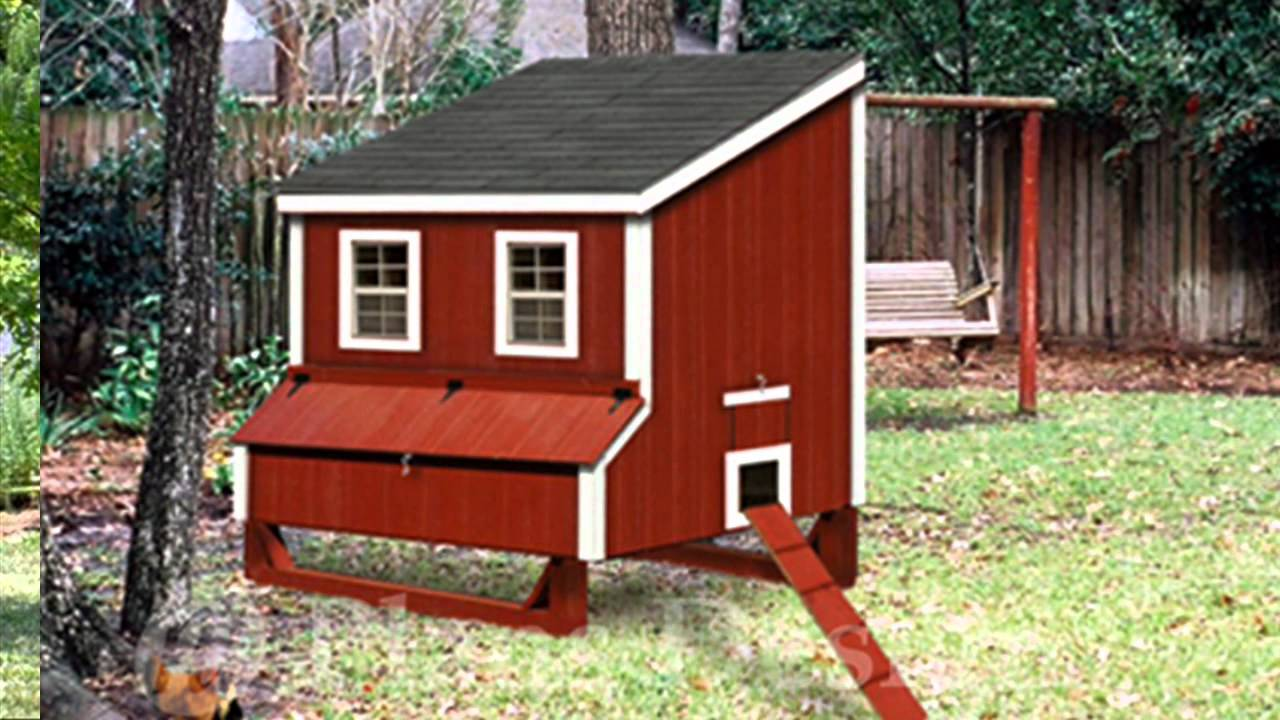 Chicken coop plans and hen house style design color of the wind youtube for Hen house design plans