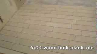 Kitchen Wood Look Plank Tile Installation