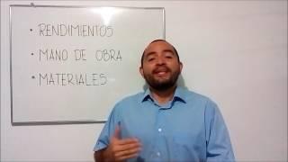 PRESUPUESTO 1 - RENDIMIENTOS