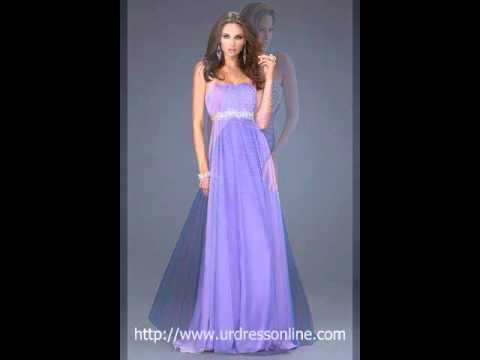 purple long prom dresses at UrDressOnline