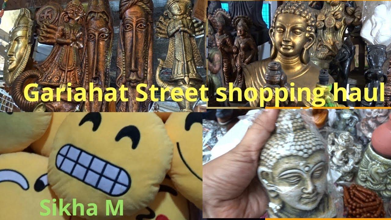 Kolkata Street Shopping Gariahat Street Shopping Haul Home Decor Cheapest Market Sikha M Youtube
