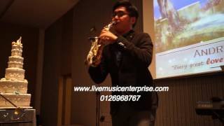Saxophone instrumental Band from Live Music Entertainment 2016
