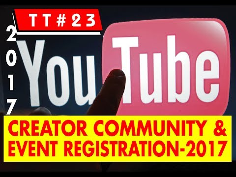 YouTube creator community and event registration-2017