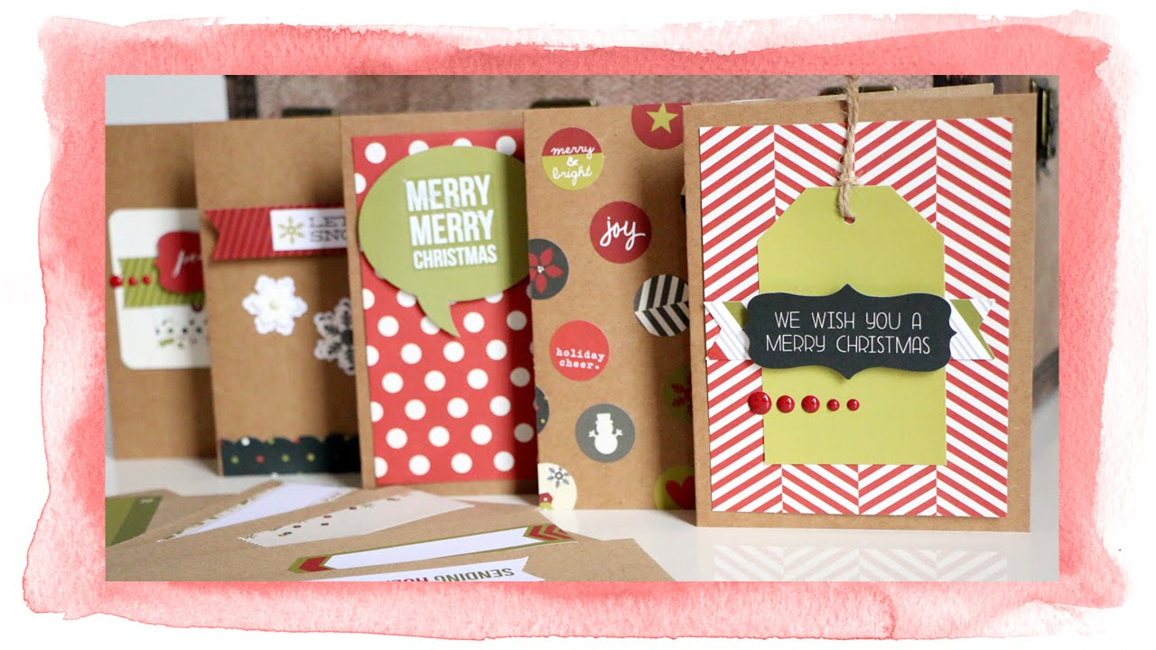 Create adorable Christmas cards using the Simple Stories DIY ...