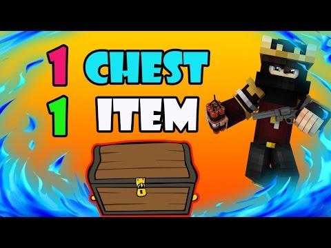 1 CHEST = 1 İTEM CHALLANGE !! (Minecraft Survival Games 151)