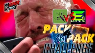 DON'T CRY! PACK 4 PACK OPENING CHALLENGE - vs EDWARD! | WWE SuperCard