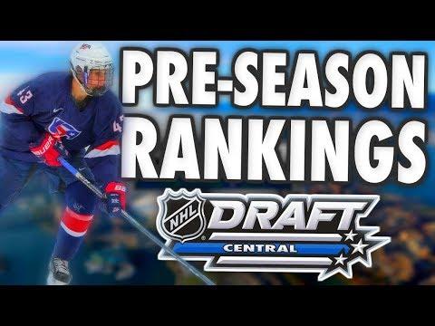 2019 NHL DRAFT PRE-SEASON RANKINGS ! (Top 62 prospects - Hughes, Kaako, Turcotte, ...)