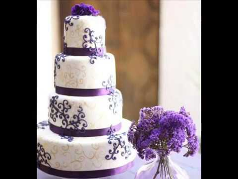 Stunning purple wedding cake youtube stunning purple wedding cake junglespirit Choice Image