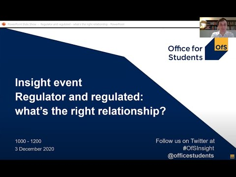 Part one - Insight event: Regulator and regulated: what's the right relationship?