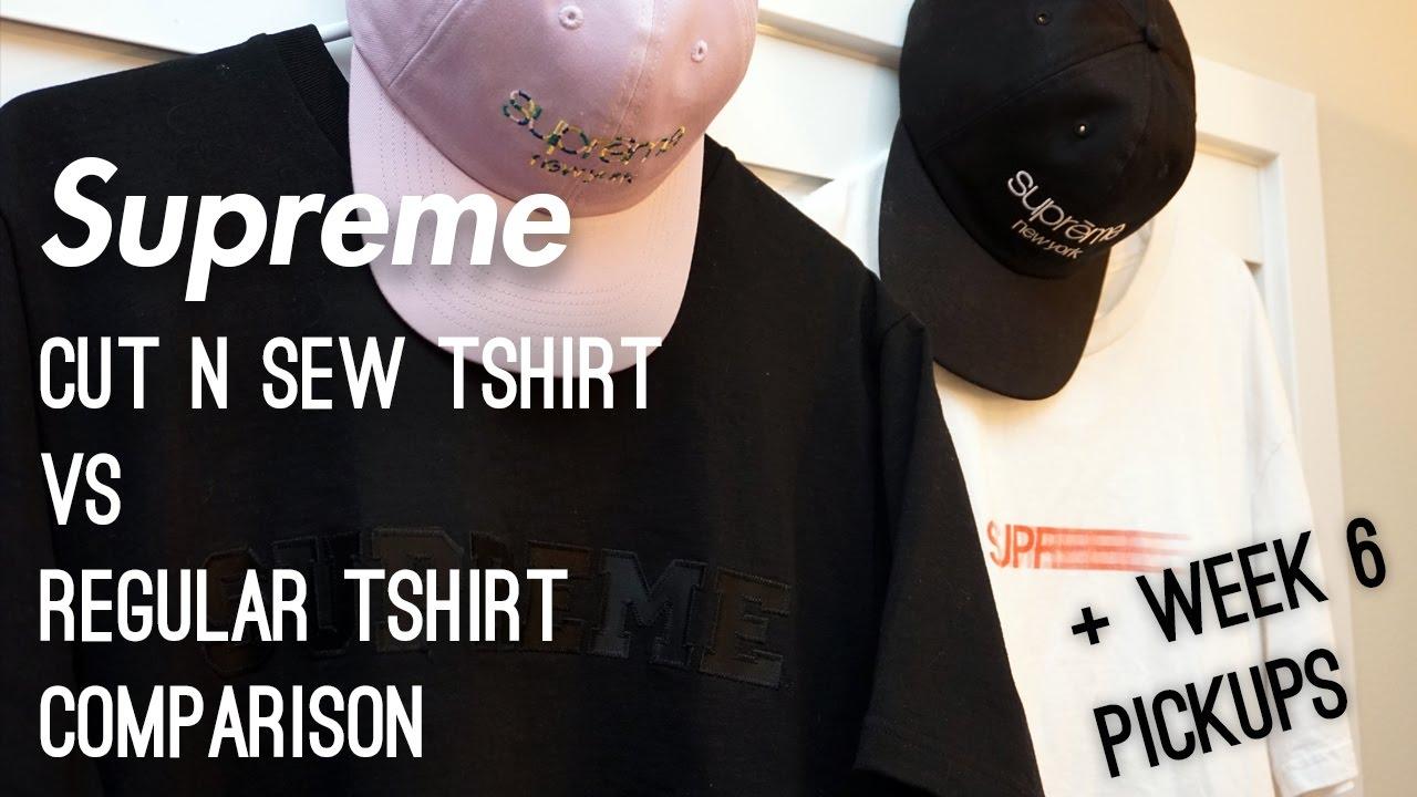 bc2590471187 Supreme Cut & Sew vs Regular Tshirt Comparison + Week 6 Pickups ...