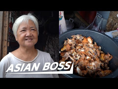 This Grandma Cooks Garbage Food Waste To Survive In The Philippines | ASIAN BOSS