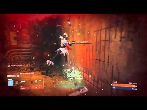 Destiny Warlock Skirmish 2v3 (radiance Skin Vs Self Revive& The Ram)