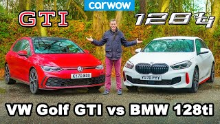BMW 128ti v VW Golf GTI - review & 0-60mph, 1/4-mile and brake comparison!