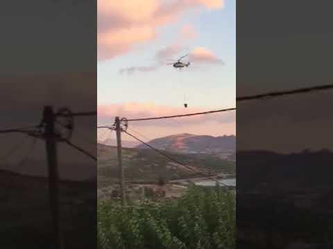 Ελικόπτερο για τη φωτιά στο Δήμο Αρχανών - Αστερουσίων