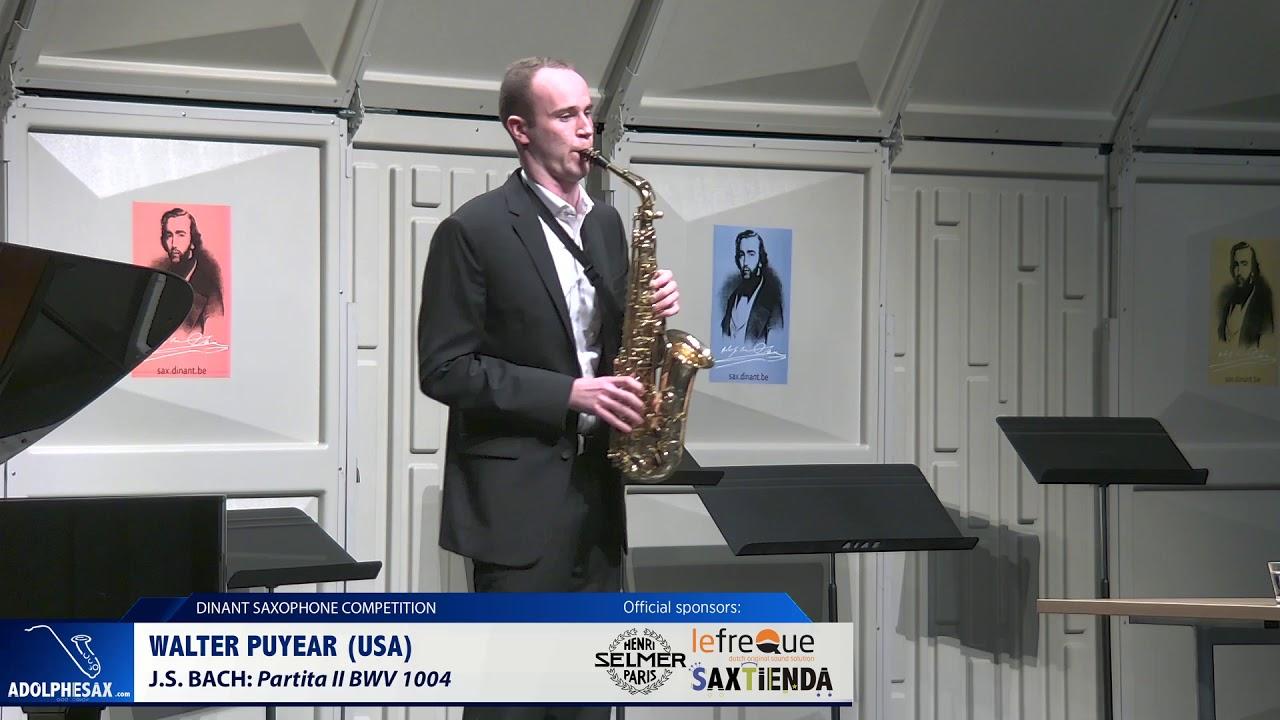 Walter Puyear (USA) -  Partita II BWV 1004 by J S Bach (Dinant 2019)