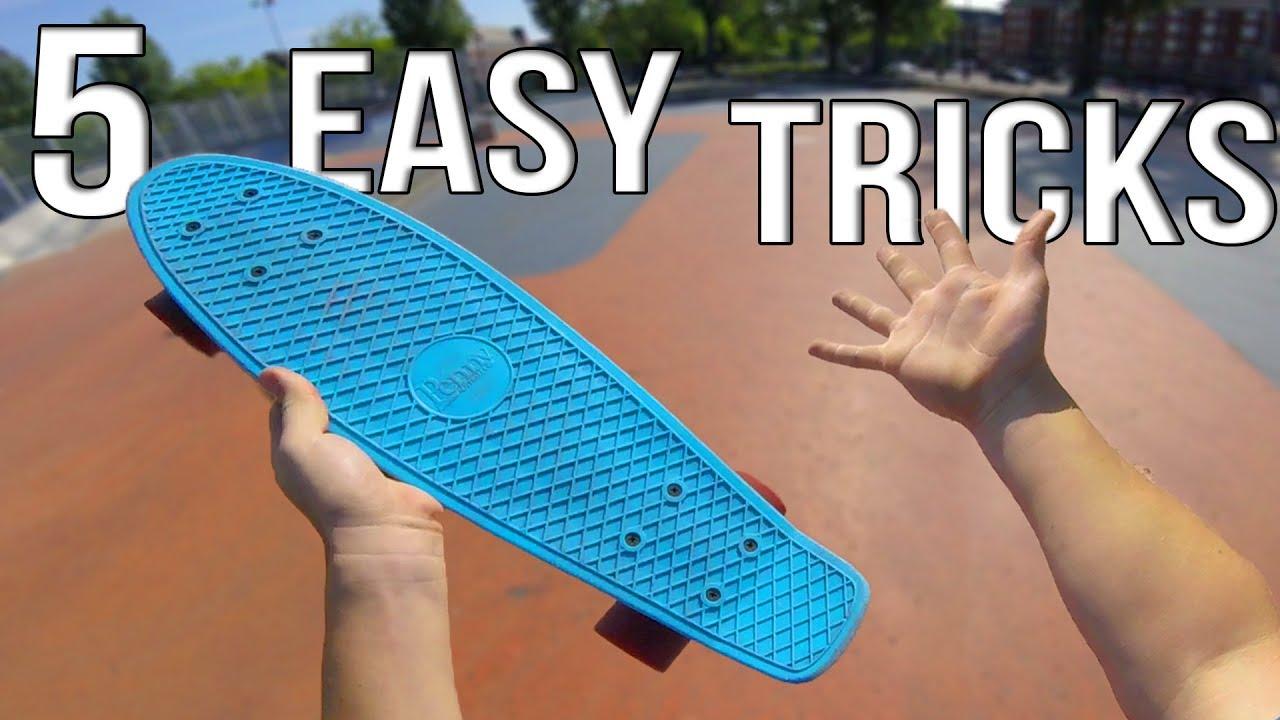 4cbdfa412 5 Easy Beginner Penny Board Tricks - YouTube