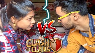 Wife vs Me ( only air challenge) 🤣🤣 Clash of Clans.....