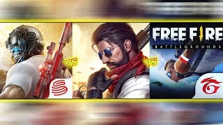 🔥 Free Fire VS Knives Out VS Survival Squad 🔥 COMPARISON - The Best Series EP-4
