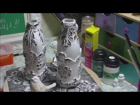 Flaschen Upcycling In Schwarz Weiss Youtube