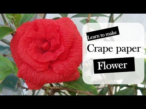 crape paper flower/ Red Rose