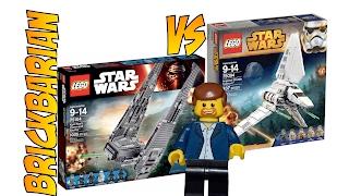 Lego Investing Kylo Ren's Shuttle vs Imperial Shuttle Tydirium