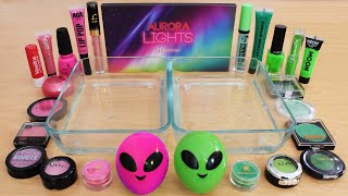 pink-vs-green-mixing-makeup-eyeshadow-into-slime-asmr-292-satisfying-slime-video