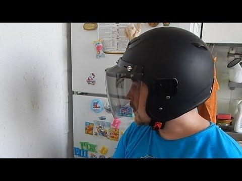 визор на кнопках для открытого шлема