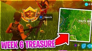 WEEK 6 CHALLENGE TREASURE 'Search Where The Stone Heads Are Looking' Fortnite