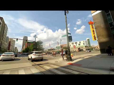 Downtown Detroit filmed August 15th 2017