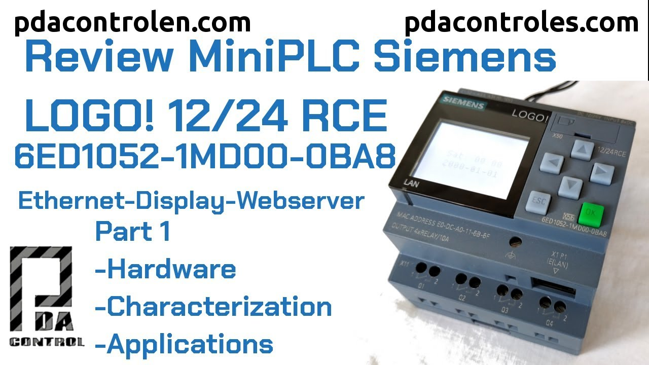 Review LOGO! 8 12/24 RCE (0BA8) Ethernet by Siemens : PDAControl
