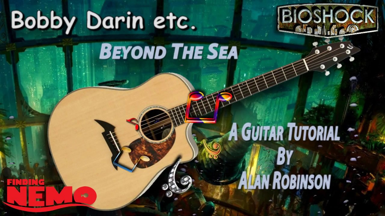 Beyond The Sea Bobby Darin Acoustic Guitar Lesson Youtube