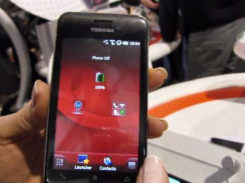 Hands-on with the Toshiba TG02 at Mobile World Congress 2010