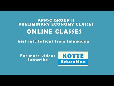 APPSC GROUP II PRELIMINARY ECONOMY CLASSES